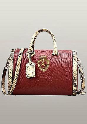 Viviane Leather Top Handle Bag Red