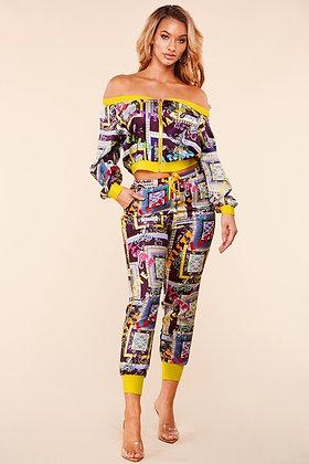 Colorblock Pant Set