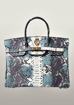 Elix Bag Snake Effect Leather Blue