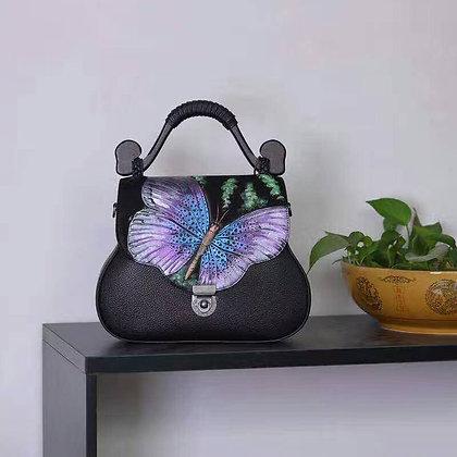 Garden Fantasy Leather Handbag