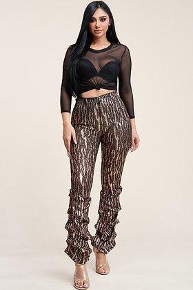 Glenda Zebra Pant Set