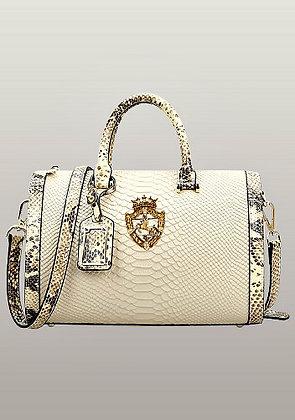 Viviane Leather Top Handle Bag Beige