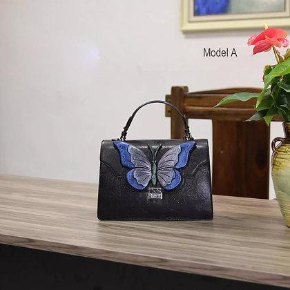 Fairy Tale Leather Handbag Blue