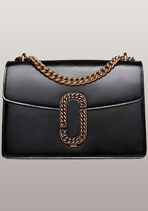 Alexia Black Leather Handbag