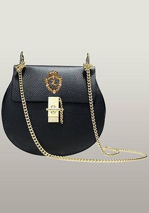 Freida Leather Shoulder Mini Bag Black