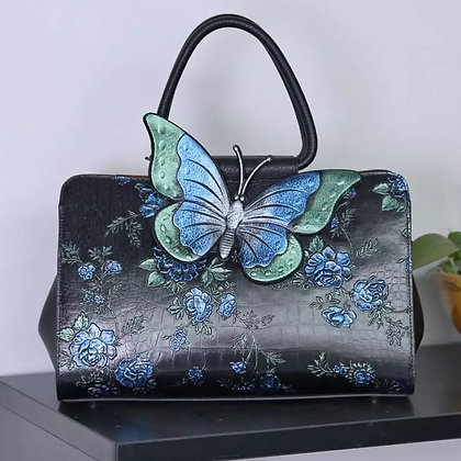 Fairy Field Leather Handbag