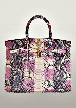 Elix Bag Snake Effect Leather Purple