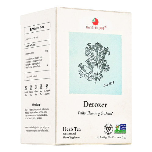 Health King Detoxer Herb Tea - Daily Cleansing & Detox