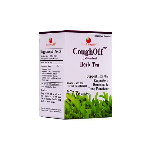 Health King CoughOff Herb Tea - Support Healthy Upper Respiratory & Bronchus