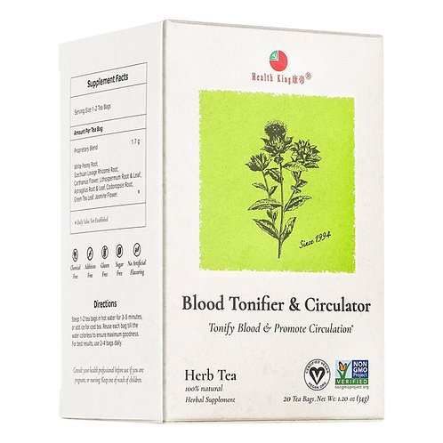 Health King Blood Tonifier & Circulator Herb Tea - Promote Blood Circulation