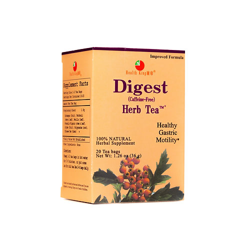 Health King Digest Herb Teabags -help to digestion functions