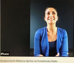 Rebecca Sprintz podcast interview wit Evolutionary Radio
