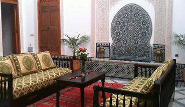 Riad Boustan's andalusian courtyard
