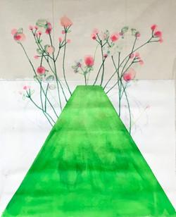 Green table 60x49cm