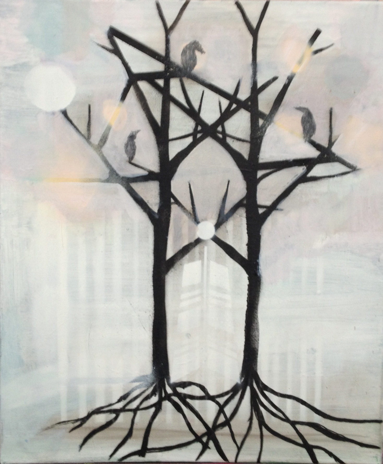 crow tree2_60x50cm