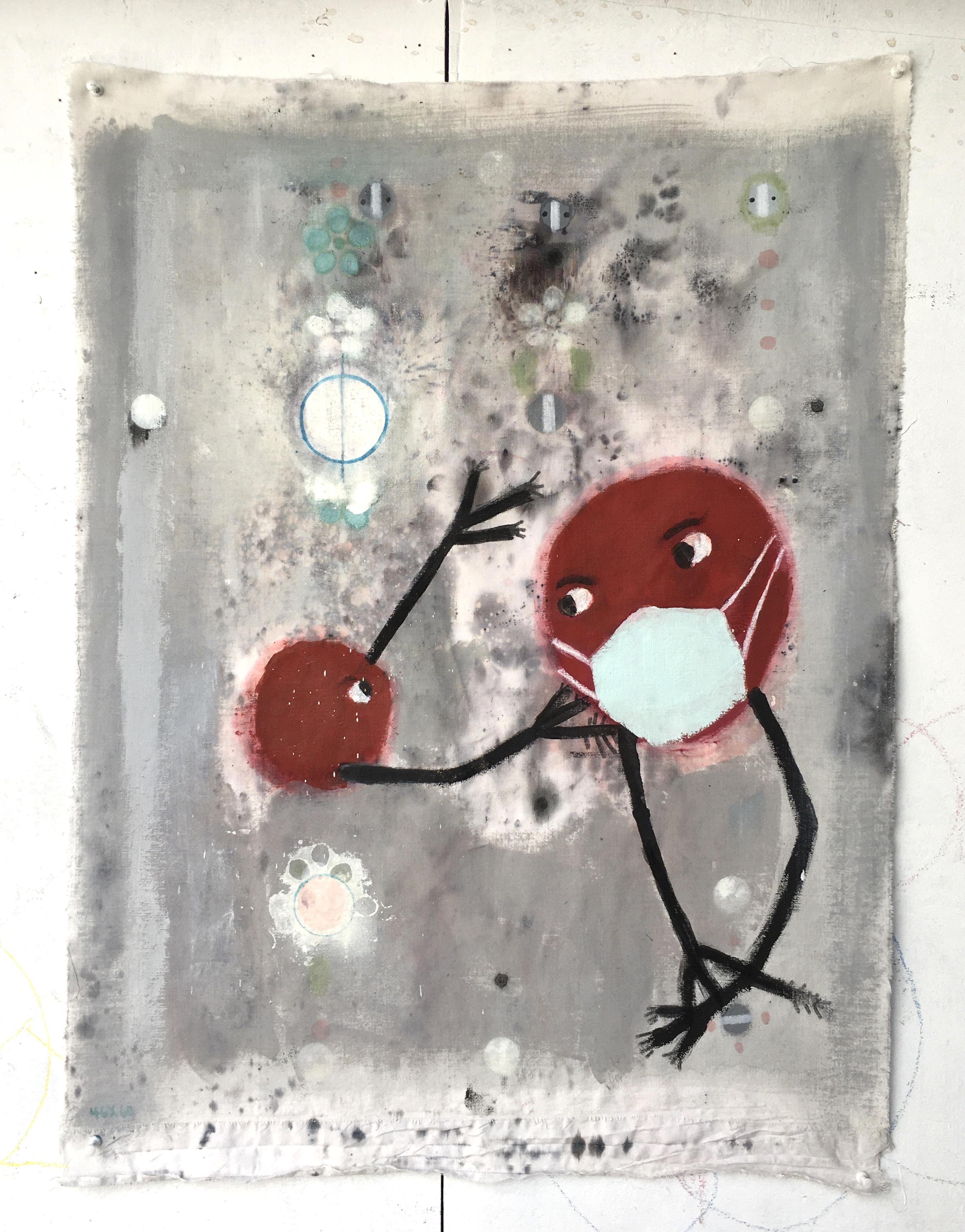 Untitled (rawfabric)65x54cm