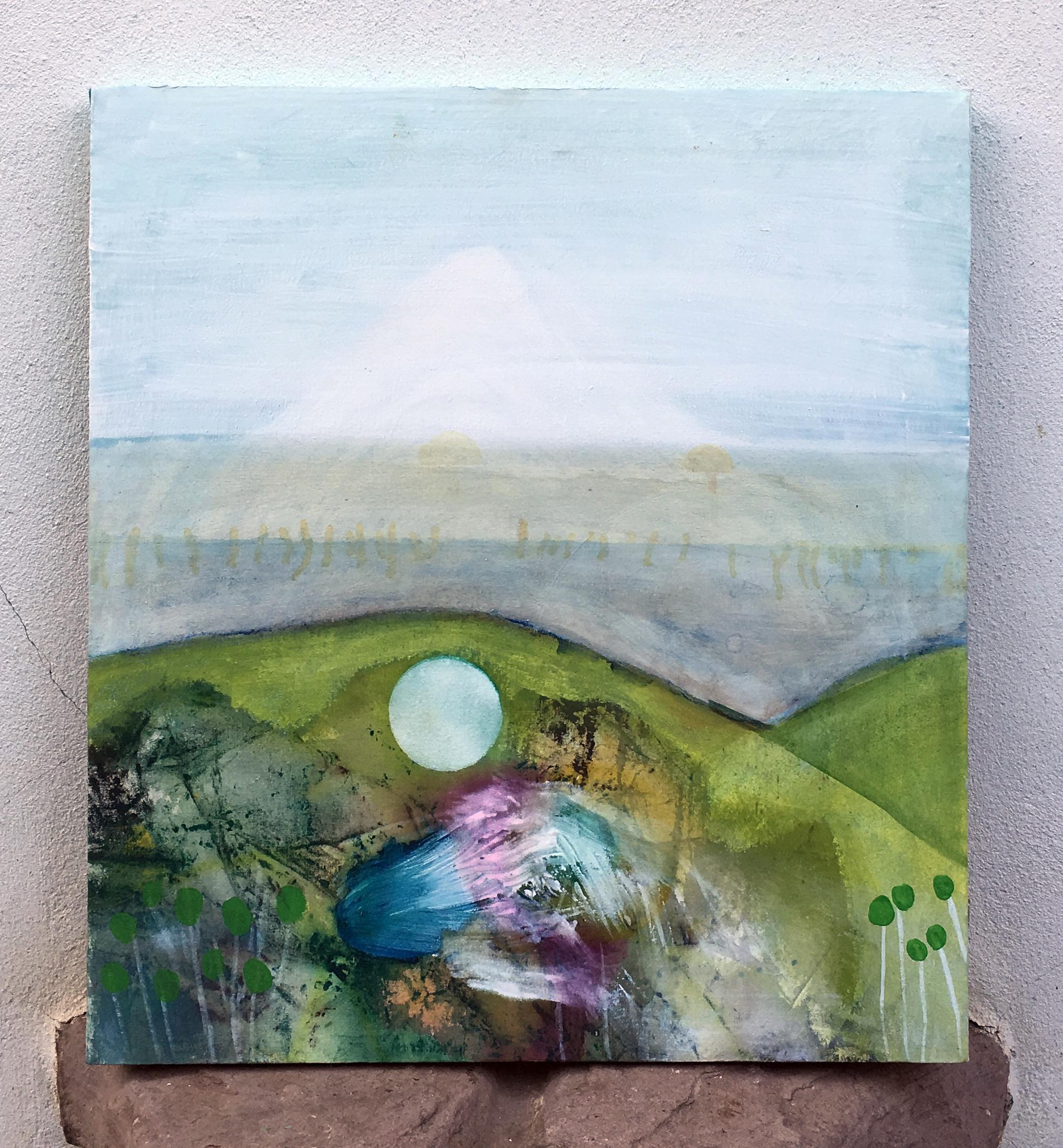 Horse head landscape 62x56cm
