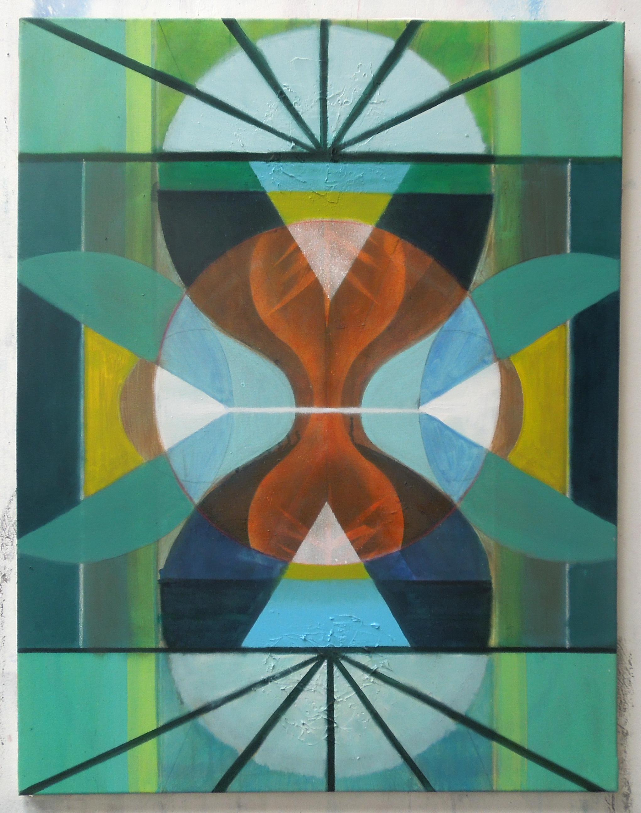 Abovebelow(hourglass#3)90x70cm