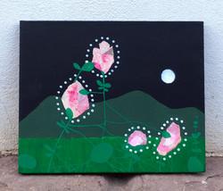 Four heads (roses) 33x27cm