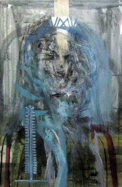 Untitled (blue scarf)