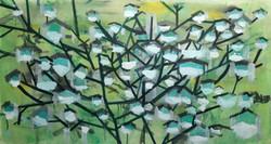 Corona tree #1. Oil on canvas 100x56 cm.