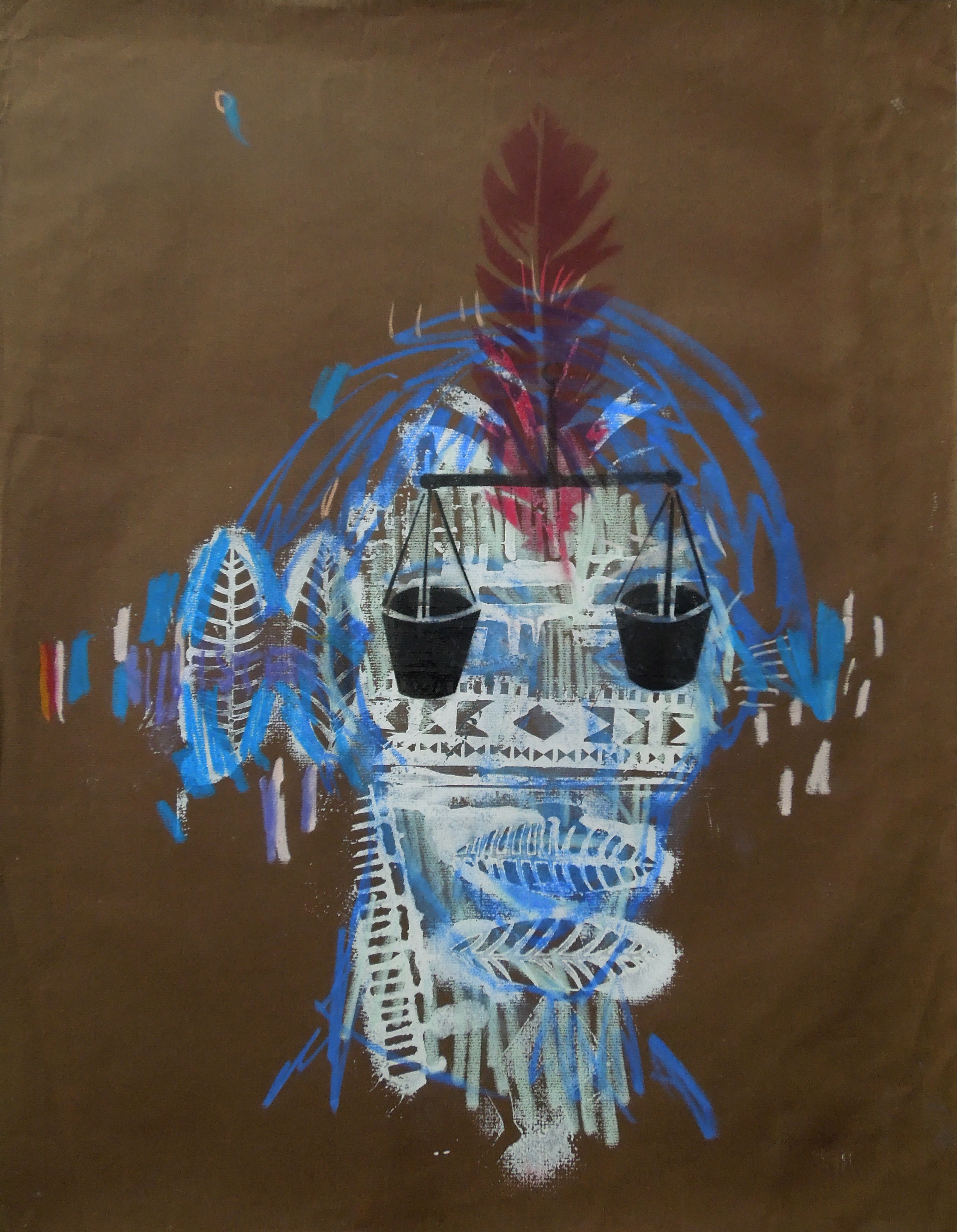 Selfportrait(bluebrown)64x50cm