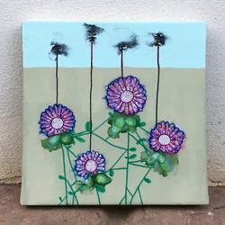 Four flowers (family) black antenna 30x3