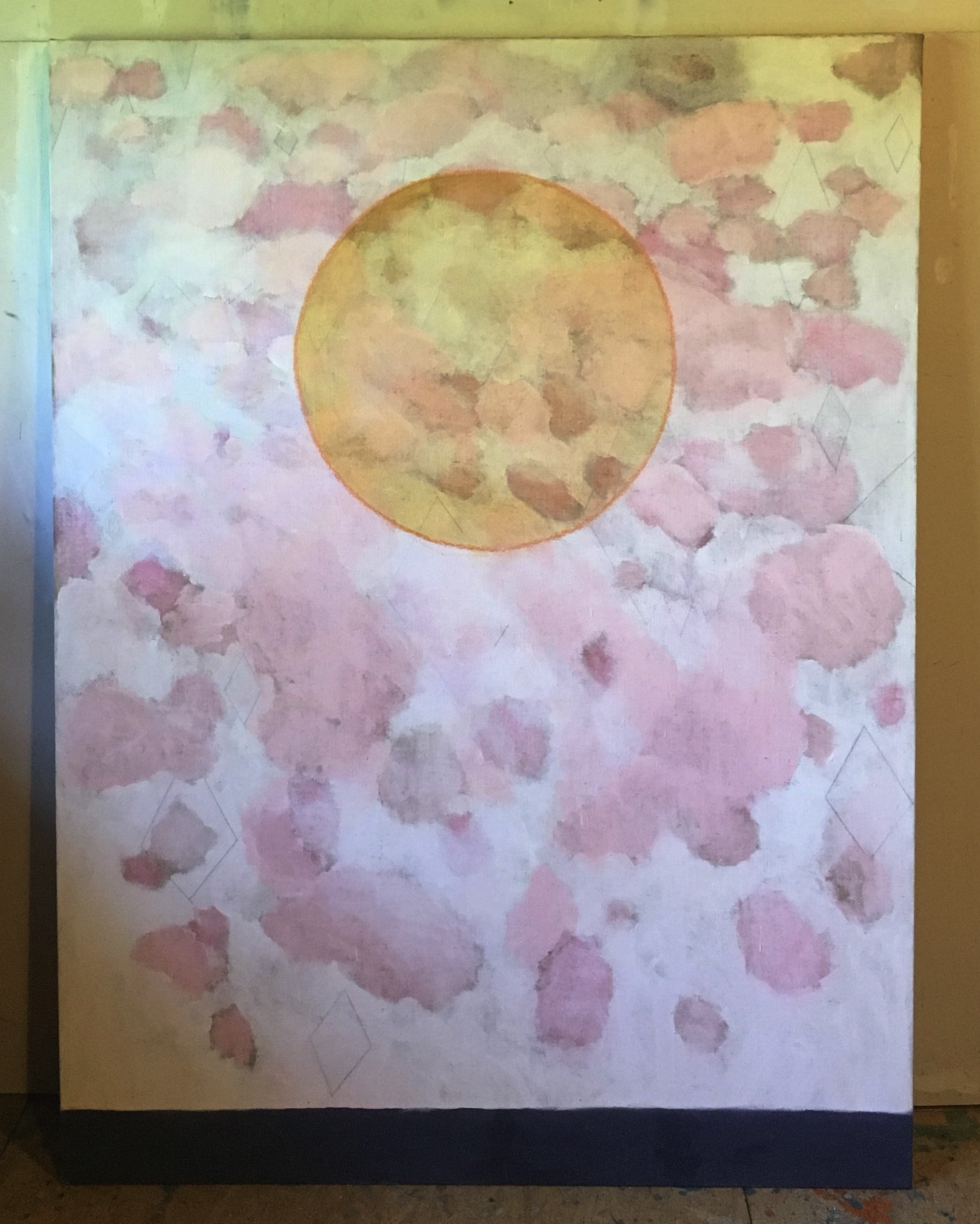 the sun (pink clouds) 72x56in 2012