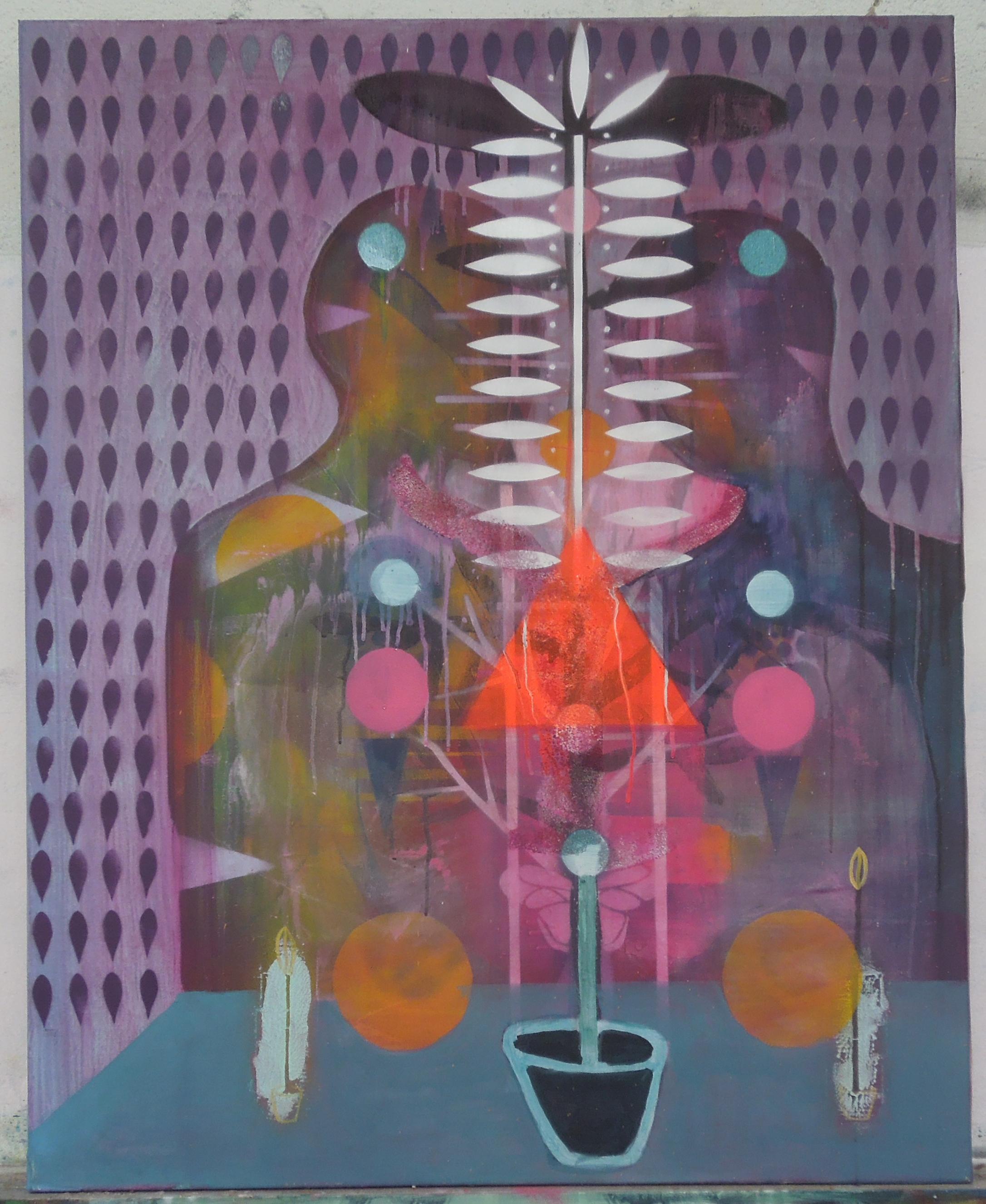 pinkandorange100x80cm