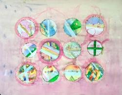 Untitled (pink spheres) 68x53cm