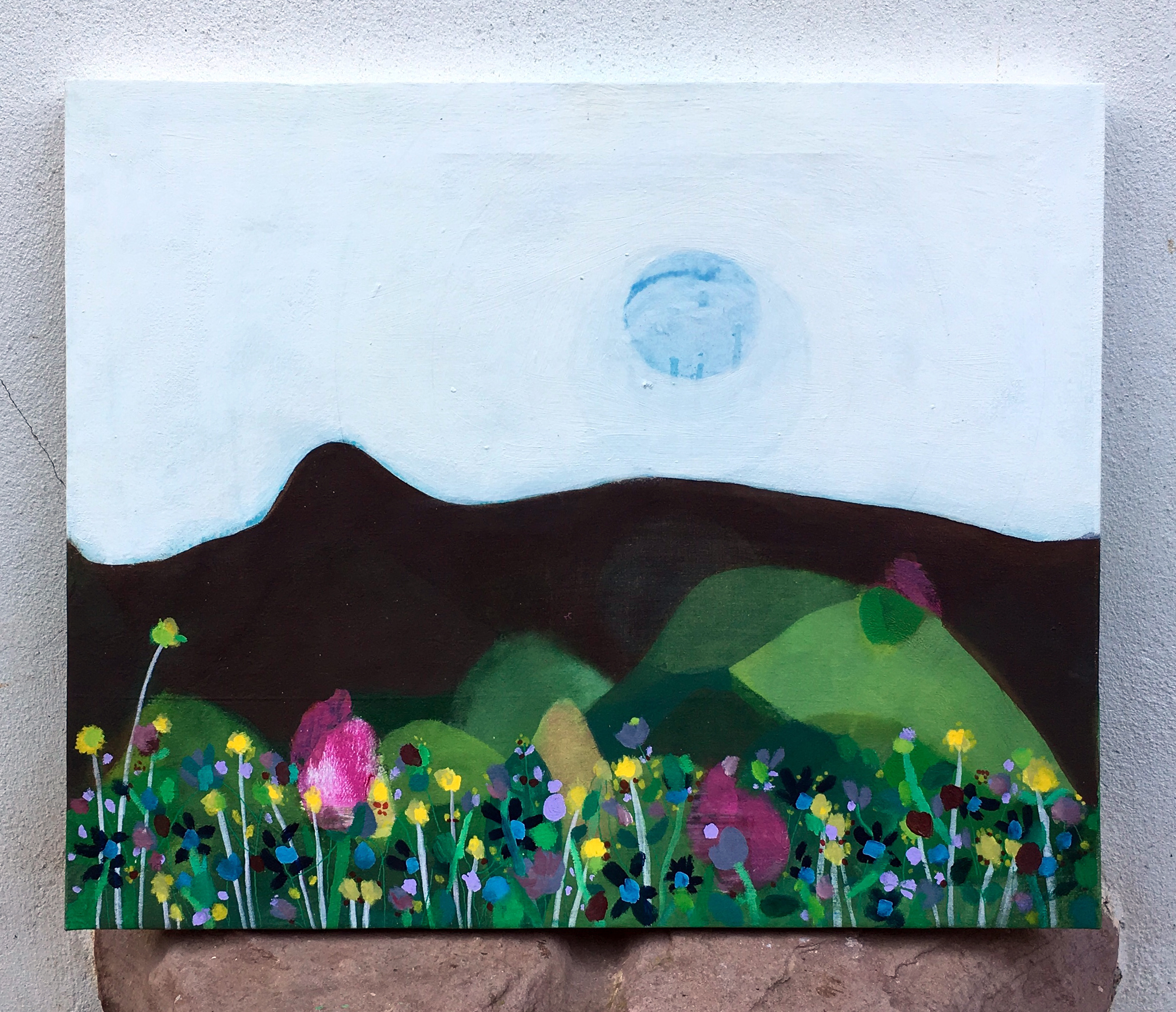 Wild flowers and mountains 60x50cm