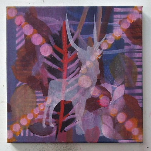 Stag (magenta) 2014 *SOLD*