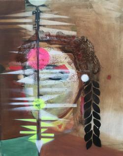 Untitled (portrait) 2021 50x40cm mixed m