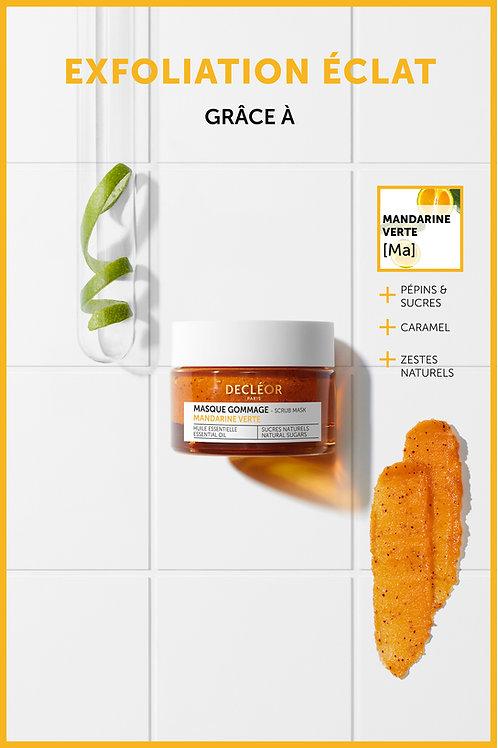 Masque gommage mandarine verte