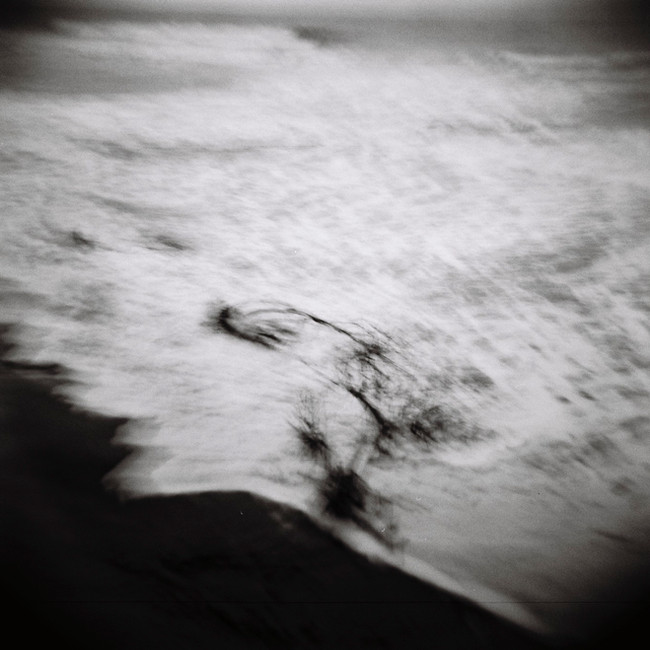 Grand coefficient de marée, dune de l'Amélie.