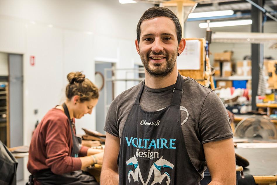 Chef d'atelier chez Voltaire Design pour la Région Nouvelle-Aquitaine.