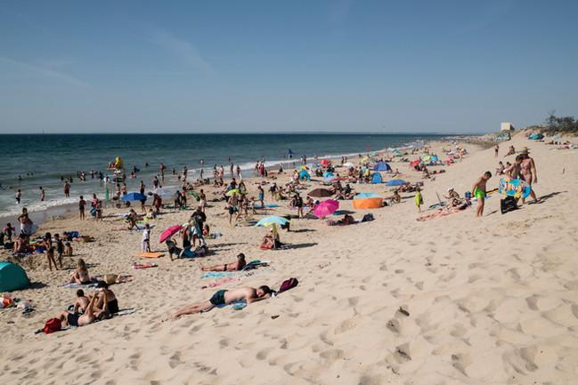 La plage des naïades suite aux travaux contre l'érosion du littoral.