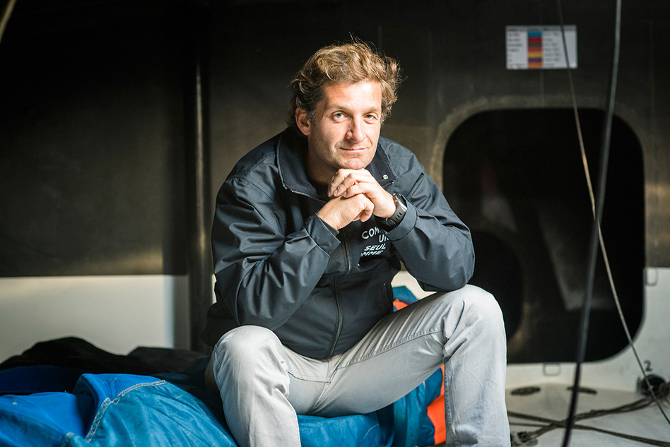 Eric Bellion, navigateur du Vendée Globe pour La Vie.