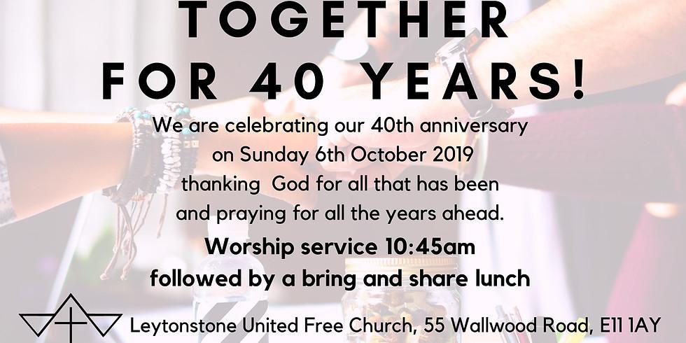 Leytonstone United Free Church turns 41!