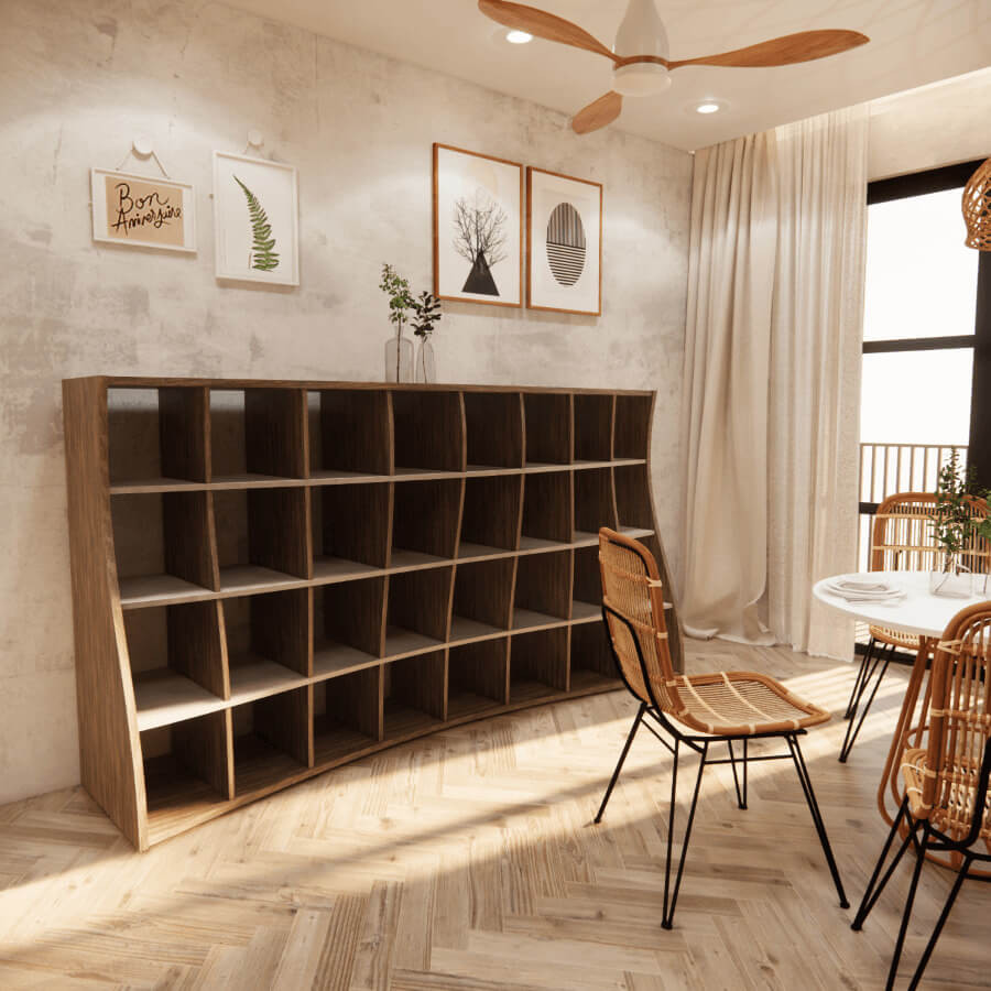 曲線設計、異型封邊、系統家具