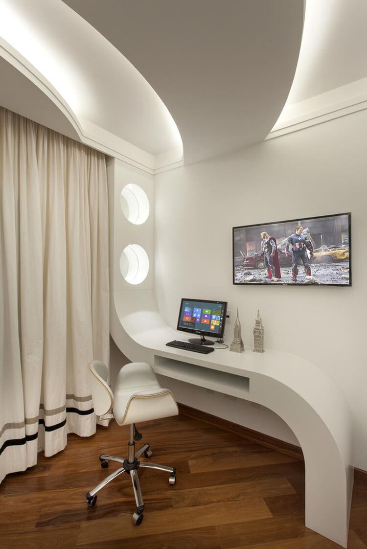 曲線天花 弧形天花 室內設計