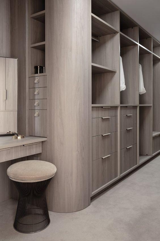 曲線/弧型系統櫃 衣櫃 衣櫥 更衣室