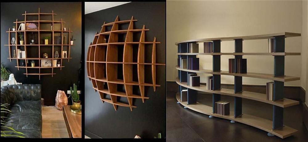 曲線/弧型家具 書櫃 開放櫃 流線型設計