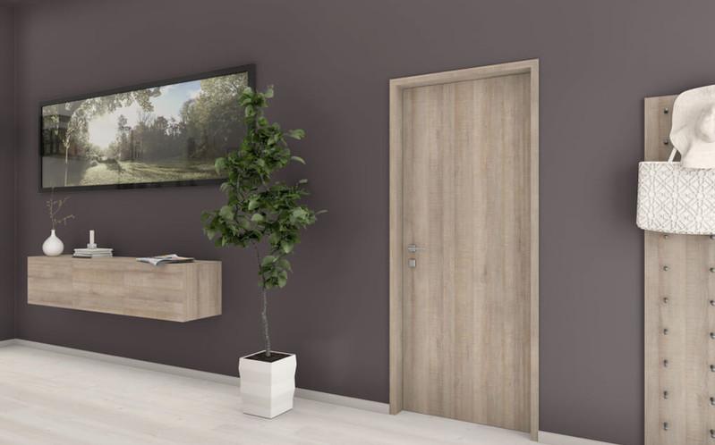 空間設計的NEW演繹x系統板+同色美耐板-門框