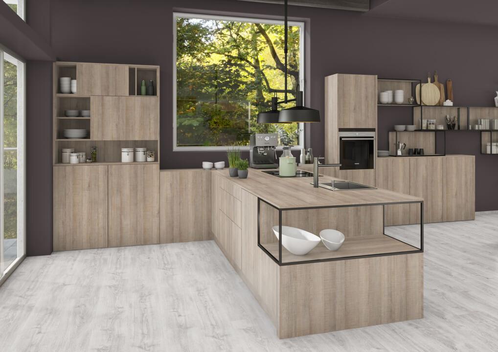 空間設計的NEW演繹x系統板+同色美耐板-廚房