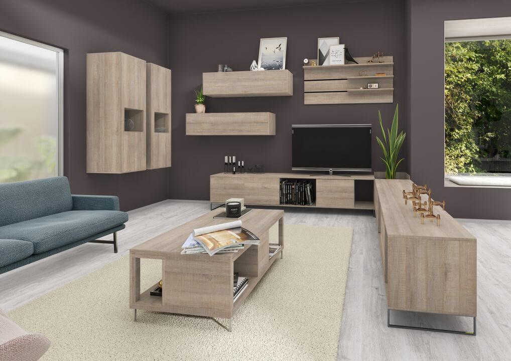 空間設計的NEW演繹x系統板+同色美耐板-客廳