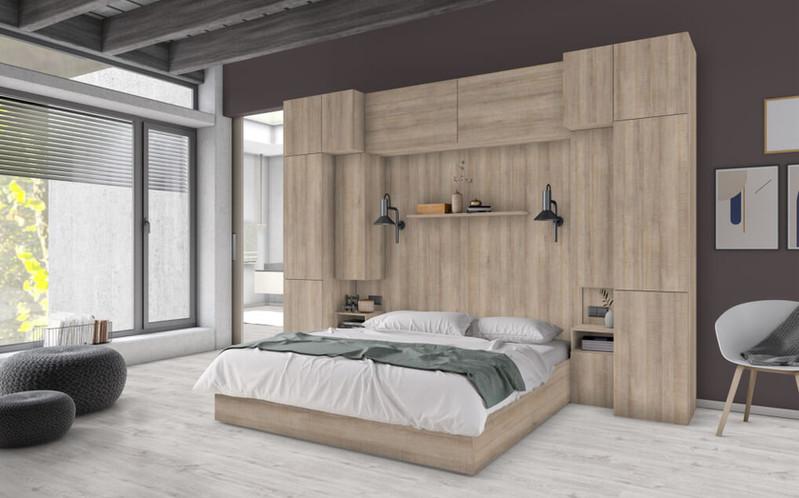 空間設計的NEW演繹x系統板+同色美耐板-臥室