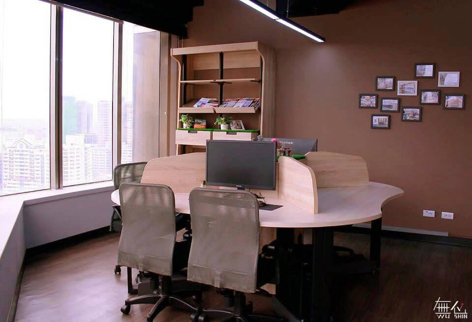 三人共享桌 辦公桌設計 系統家具