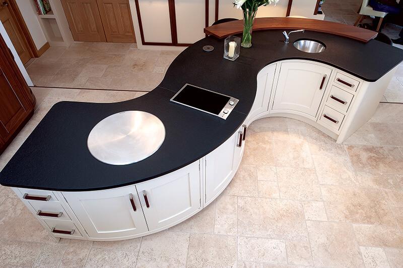 曲線/弧型廚櫃 系統櫃 流線型設計