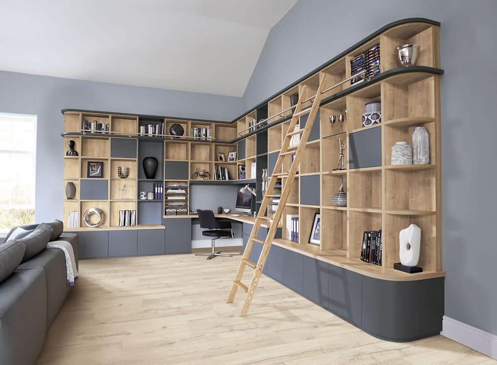 曲線/弧型系統櫃 書櫃 收納櫃設計